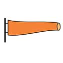 Lifeguard Patrol Orange Wind Sock